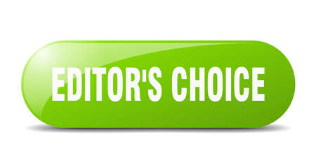 editor's choice button. rounded glass sign. sticker. banner