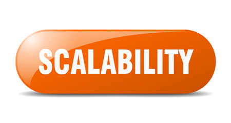 scalability button. rounded glass sign. sticker. banner