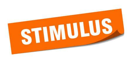 stimulus sticker. square isolated peeler sign. label