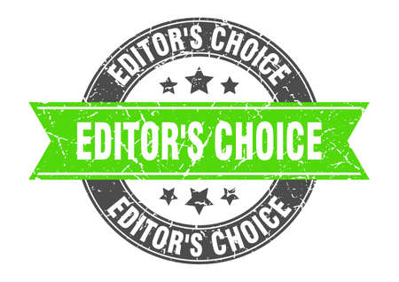 editor's choice round stamp with ribbon. sign. label