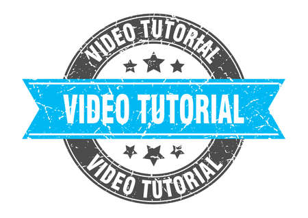 video tutorial round stamp with ribbon. sign. label