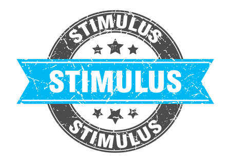 stimulus round stamp with ribbon. sign. label