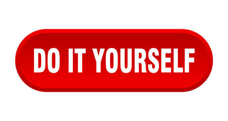 do it yourself button. rounded sign isolated on white background