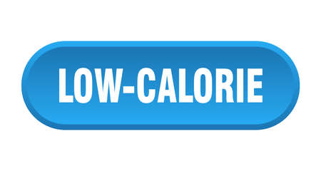 low-calorie button. rounded sign isolated on white background