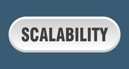 scalability button. rounded sign isolated on white background 向量圖像