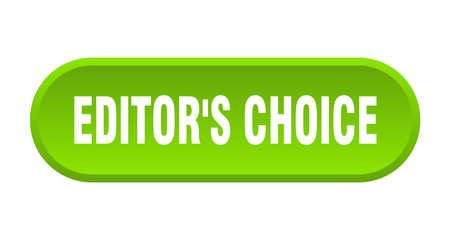 editor's choice button. rounded sign isolated on white background