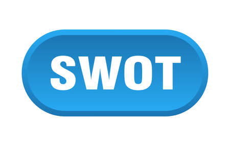 swot button. rounded sign isolated on white background Vecteurs