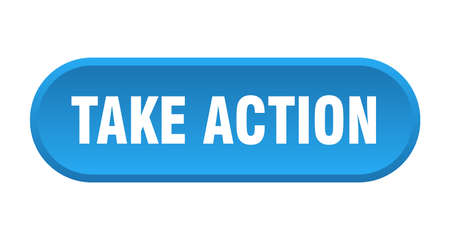 take action button. rounded sign isolated on white background  イラスト・ベクター素材