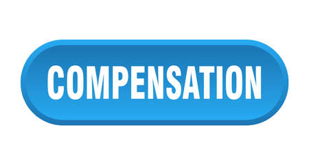 compensation button. rounded sign isolated on white background Stock Illustratie