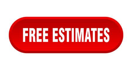 free estimates button. rounded sign isolated on white background