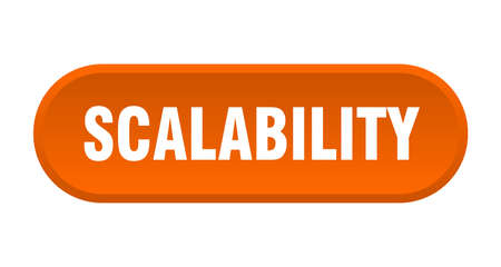 scalability button. rounded sign isolated on white background