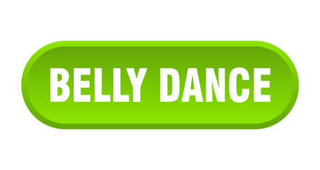 belly dance button. rounded sign isolated on white background