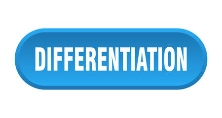 differentiation button. rounded sign isolated on white background
