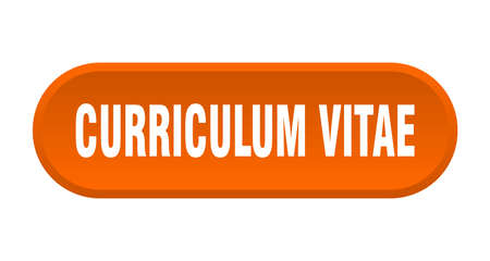 curriculum vitae button. rounded sign isolated on white background