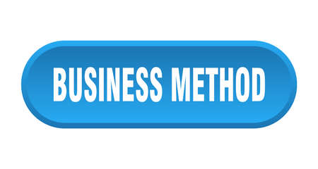 business method button. rounded sign isolated on white background