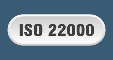 iso 22000 button. rounded sign isolated on white background Vettoriali