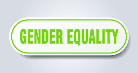 gender equality sign. rounded isolated sticker. white button