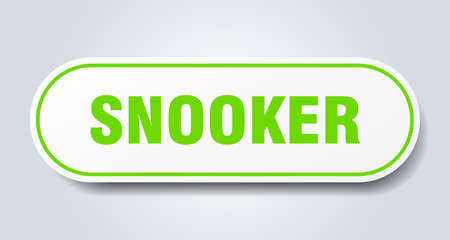 snooker sign. rounded isolated sticker. white button 向量圖像