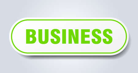 business sign. rounded isolated sticker. white button