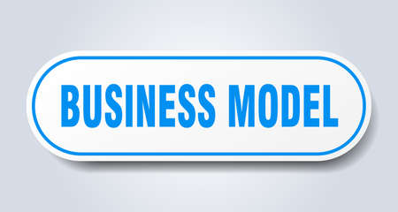 business model sign. rounded isolated sticker. white button Иллюстрация