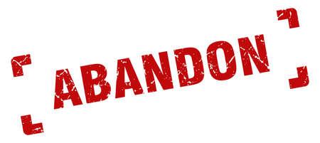 abandon stamp. square grunge sign on white background