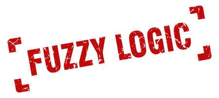 fuzzy logic stamp. square grunge sign on white background