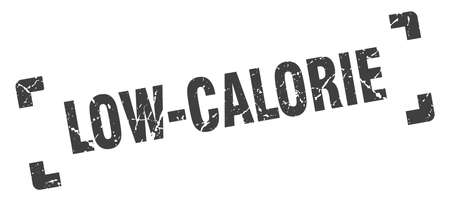 low-calorie stamp. square grunge sign on white background