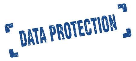 data protection stamp. square grunge sign on white background 版權商用圖片 - 156029936