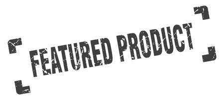 featured product stamp. square grunge sign on white background Ilustração