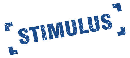 stimulus stamp. square grunge sign on white background  イラスト・ベクター素材