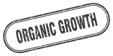 organic growth stamp. rounded grunge sign on white background