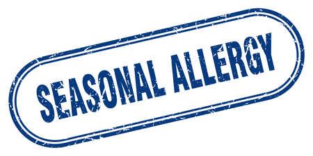 seasonal allergy stamp. rounded grunge sign on white background