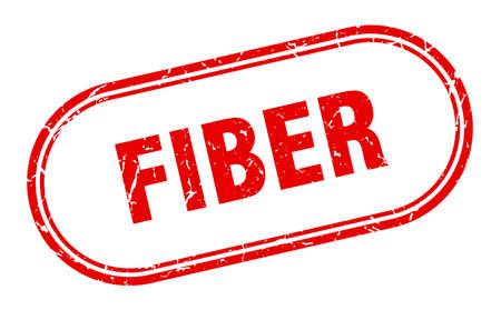 fiber stamp. rounded grunge sign on white background Vettoriali