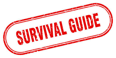 survival guide stamp. rounded grunge sign on white background Vector Illustratie