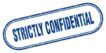 strictly confidential stamp. rounded grunge sign on white background Ilustração Vetorial