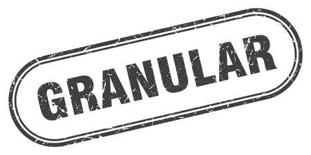 granular stamp. rounded grunge sign on white background 矢量图像