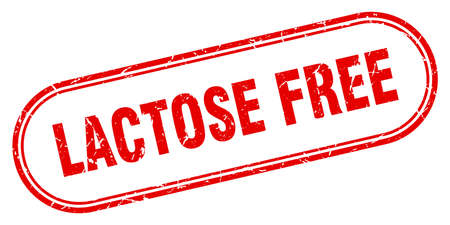 lactose free stamp. rounded grunge sign on white background