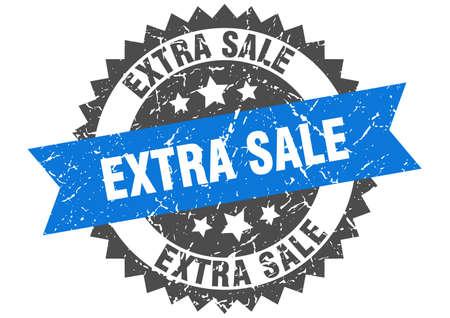 extra sale stamp. round grunge sign with ribbon Ilustração