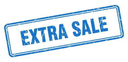 extra sale stamp. square grunge sign isolated on white background Ilustração