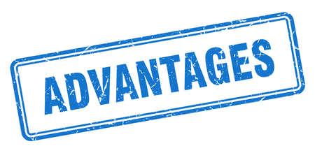 advantages stamp. square grunge sign isolated on white background Vektorgrafik