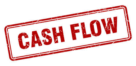 cash flow stamp. square grunge sign isolated on white background