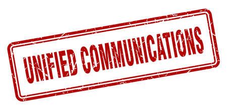unified communications stamp. square grunge sign isolated on white background Ilustração