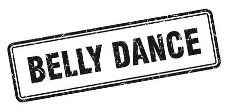 belly dance stamp. square grunge sign isolated on white background