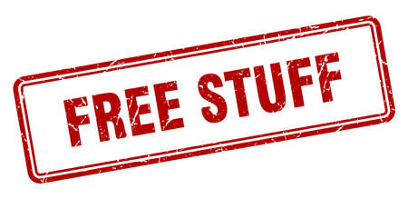 free stuff stamp. square grunge sign isolated on white background