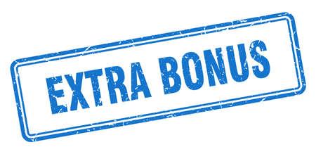 extra bonus stamp. square grunge sign isolated on white background Ilustração