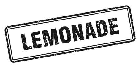 lemonade stamp. square grunge sign isolated on white background 일러스트