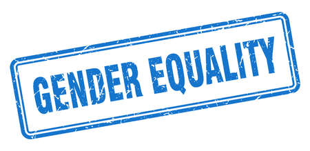 gender equality stamp. square grunge sign isolated on white background