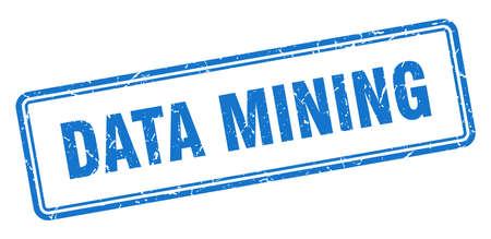 data mining stamp. square grunge sign isolated on white background 向量圖像
