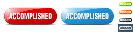 accomplished button. sign. key. push button set