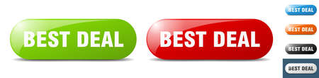 best deal button. sign. key. push button set